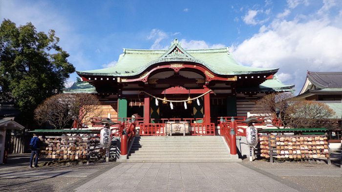 main hall of Kameido-Tenjin