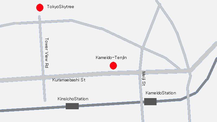 a map of Kameido