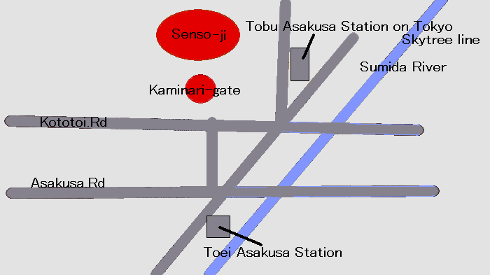 map around Senso-ji