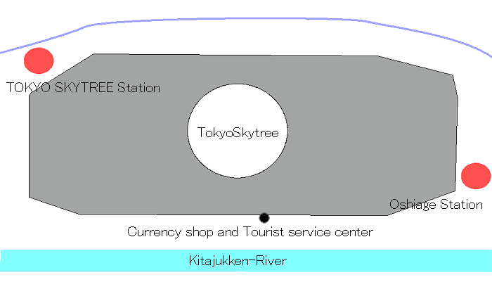map of Tokyo Solamachi